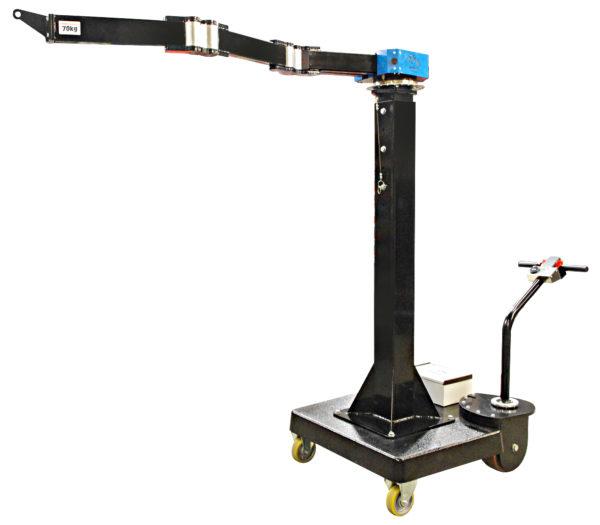 PM1400 – Potence mobile 70 kg sur socle sur roue électrique