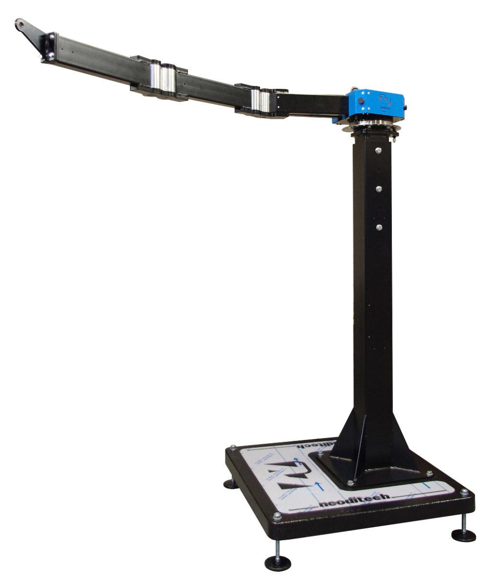 PM1406 – Potence mobile 100 kg sur socle par transpalette